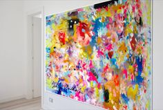 Large scale abstract art painting by Yuliya Vladkovska http://www.saatchiart.com/art/Painting-Last-Sunday-in-August/206623/2640626/view