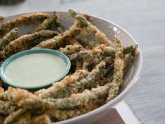 Baked Green Bean Fries-trisha yearwood show we watched, andy said they looked good!