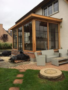 Garden Room Extensions, House Extensions, Patio Design, Exterior Design, Glass Porch, Screened Porch Designs, Casa Loft, Sunroom Addition, House Extension Design