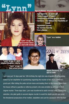 """The US is the only country to sentence juveniles to life without parole, sentencing them to die in prison. """"Lynn"""" is serving juvenile life without parole in Louisiana. She was 16 at the time of her arrest and has been incarcerated for about 19 years now. I had the opportunity to meet her about one year ago. I hope one day this law is changed."""
