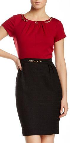 Colorblock Chain Link Dress