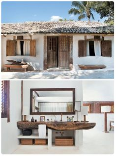 Love the use of reclaimed wood in this little finca. More finca's on Ibiza Homes & Interior. #ibizainteriors #Eivissa