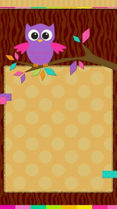 Cute Owls Wallpaper, Iphone Wallpaper Fall, Wallpaper Backgrounds, Purple Crafts, Coffee Wall Art, Fall Owl, Paper Owls, Homescreen Wallpaper, Pocket Scrapbooking