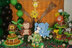 jungle animals Birthday Party Ideas | Photo 3 of 32 | Catch My Party
