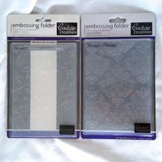 Coutoure Creations Embossing Folders Encaustic & Lovingly Baroque Set of 2 #CoutoureCreations