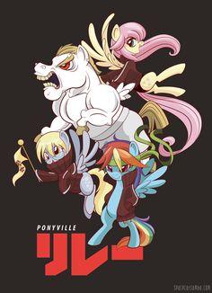 Ponyville Relay Team by SpaceKitty.deviantart.com on @deviantART