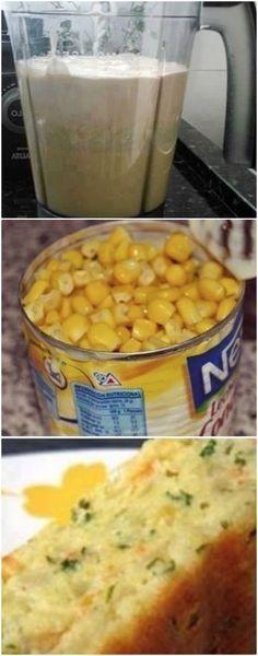 Bolo salgado de milho é fácil de fazer e faz sucesso por que é uma delícia, veja a receita! #bolosalgadodemilho #milho #bolosalgadodemilhofacil ##bolosalgadodemilhorapido #salgados