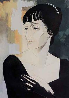 Yury Annenkov 9Russian 1889-1974) - Portrait of A.Akhmatova (1921)