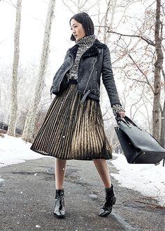 Me fascinó este look Metálico de la nueva colección Otoño-Invierno 2015 de Ripley #tueliges