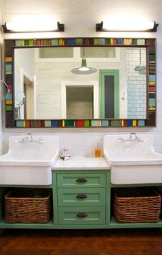 Scott Lyon & Company - double trough sink with cabinets                                                                                                                                                                                 More