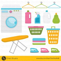 Laundry Room vector - Digital Clipart - Instant Download - EPS, PNG files included by ChenStudio88 on Etsy https://www.etsy.com/listing/246198458/laundry-room-vector-digital-clipart