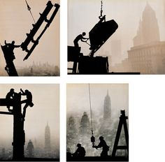 (1918-2002)<br><br>Construction workers - Holding, Early, Smoky, Pouring<br>four gelatin silver prints<br>39 x 50 cm. ( 15 1/4 x 19 5/8 in.)<br>50 x 40 cm. (19 5/8 x 16 3/4 in.)<br>38 x 49 cm. (15 x 19 1/4 in.)<br>39.5 x 49.5cm. (15 1/2 x 19 1/2 in.)<br>one chop of the artist (4)