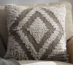 Brown Ivory Shag Pillow Cover #potterybarn