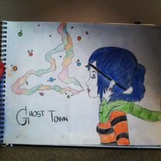 My drawing of Ghost Town album. I've never had a single art lesson so i did pretty good for not really knowing how to draw (: And NO i did NOT trace it. :') 5/3/14