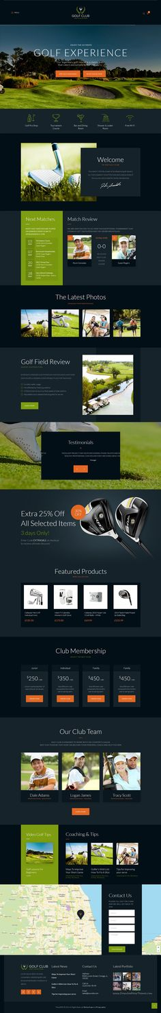 Golf Club is modern and professional responsive for s. Golf Websites, Golf Push Cart, Golf Books, New Golf Clubs, Golf Videos, Wordpress Template, Golf Training, Golf Lessons, Web Layout