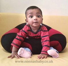 """Khushaansh is a cute and happy little man in his new Hugaboo Baby Seat. Mummy DrBabitha said """"Khushaansh is 6 months old and is loving his new baby seat"""" Nonna loves it! :-) • Find out more about the Hugaboo Baby Seat: https://nonnasbaby.co.uk/hugaboo-baby-seat/"""