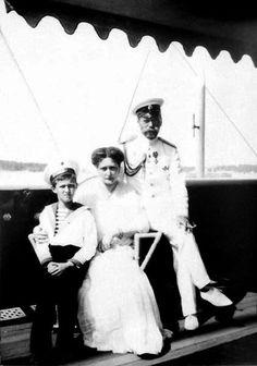 Nicholas, Alexandra, & Alexei on aboard the Imperial Yacht Standart