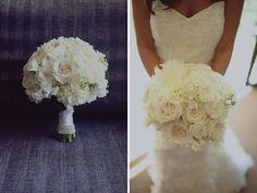 Modern Elegant Pink & Black California Wedding - how beautiful is that bouquet?
