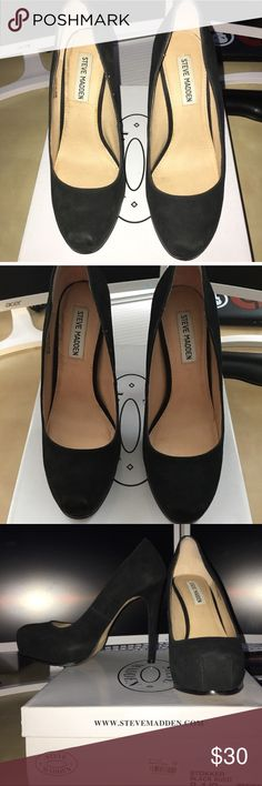 Steve Madden Suede Stokker, Size 8.5 My loss is your gain! I have to re-Posh these as they are just a little too big for me. Make an offer! Steve Madden Shoes Platforms