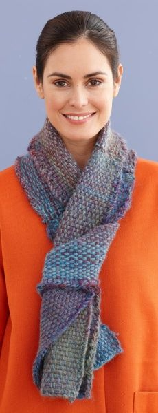 Weave this project with the Martha Stewart Crafts Lion Brand Yarn Knit & Weave Loom Kit.
