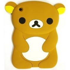 Cute 3D Lovely Winnie the Pooh Bear Silicone Soft Skin Case Cover for iPad Mini