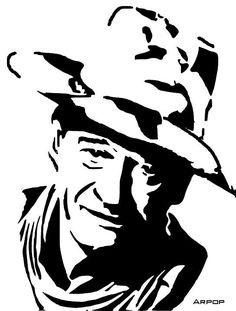 John Wayne scroll saw Fretwork Portrait Cutting Wood Burning Patterns, Wood Burning Art, Silhouette Art, Silhouette Projects, Kirigami, Stencil Art, Stencil Graffiti, How To Make Stencils, Cowboy Art