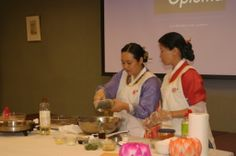 The cooking class-Demo of Korean food