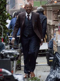 "Forest Whitaker on the New York set of Kassi Lemmon's gospel musical ""Black Nativity."""
