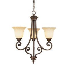 Millennium Lighting 1203 Oxford 3 Light Single Tier Chandelier Rubbed Bronze Indoor Lighting Chandeliers