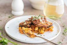 Baked Eggplant Parmesan Pasta (Gluten Free) via @vita_sunshine