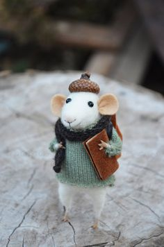 Little+Traveler+Mouse++Felting+Dreams+by+feltingdreams+on+Etsy,+$88.00