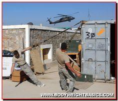 Military Using TRX Suspension Training System