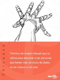 Esta palabra de origen náhuatl significa «seis» y se aplicaba a las personas con más de cinco dedos en las manos o en los pies.