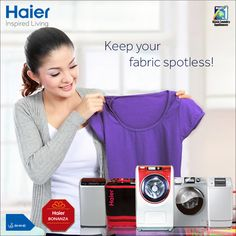 #Haier's Range of #WashingMachine for your clothes that needs special care. Now get Ariel Gift Pack free with every purchase of Washing machine! Get assured gifts Offline, mega prizes online. #HaierBonanza #Technology #Lifestyle