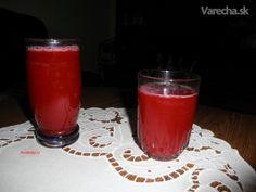 Cviklový elixír na odľahčenie (fotorecept) - Recept Shot Glass, Tableware, Dinnerware, Dishes