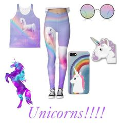 """""""Unicorns"""" by gc531 ❤ liked on Polyvore featuring Marc Jacobs, Sunday Somewhere, FOSSIL and Rare London"""