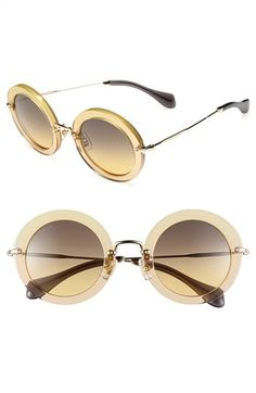 736a94a131 Miu Miu Round Retro Sunglasses available at  Nordstrom Round Lens Sunglasses