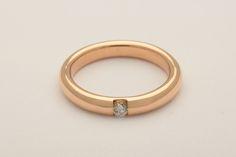 Fede in oro giallo con diamante  #luxuryzone #fede #matrimonio #anello
