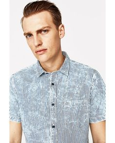ZARA - MAN - WASHED STRIPED SHIRT