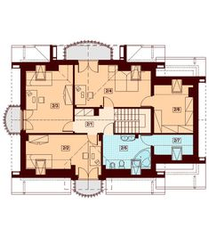 These two Contemporary Two Storey Home Idea are medium family home ideas. Country House Plans, Small House Plans, Storey Homes, Bonus Rooms, Contemporary, Modern, Malaga, Beautiful Homes, Floor Plans