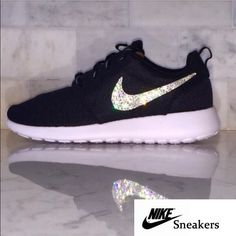 Nike roshe swavorski Crystallized Nike Roshe ships within 1 week of purchase. Swavorski element flat back crystal. Message me if you need different size or different color Roshe. Nike Shoes Athletic Shoes