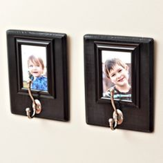 Make these cute photo frame backpack hooks and your kids will have the perfect place to hang their backpacks when they get home from school.