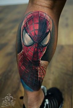 8ab54bb983491 This Spider-Man tattoo shows the city he protects reflected in his eyes    cool tattoos   Spiderman tattoo, Spiderman, Tattoos for guys
