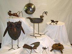 Even more critters Scrap Metal Art, Metal Yard Art, Metal Projects, Metal Crafts, Yard Art Crafts, Welding Art, Welding Ideas, Metal Shop, Junk Art