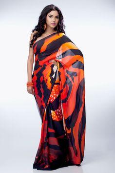 Satya Paul Animal Printed Saree