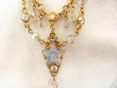 Kirks Folly Necklace Moonstone Stars In My by VintageVogueTreasure