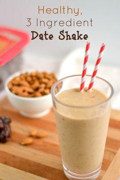 Healthy, 3 Ingredient Date Shake(Naturally Vegan and Grain Gluten Free) - http://www.diypinterest.com/healthy-3-ingredient-date-shakenaturally-vegan-and-grain-gluten-free/