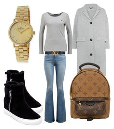 """Wednesday"" by madisonkiss on Polyvore featuring Burberry, Frame, Louis Vuitton, Gucci, Steven by Steve Madden and Gomelsky"