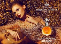 Princesse Marina de Bourbon Royal Marina Intense ~ Inspired by the French royal expedition to the Orient. Exotic and refreshing blend of acai berries and amaryllis opens the composition by announcing jasmine flowers and iris warmed with tonka in the heart. The delicate powdery-floral heart is supported with patchouli and vanilla, rounded up with balmy notes and gourmand warmth of musk. It has been characterized as oriental-gourmand.
