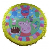 Peppa Pig Round Pinata - this is a must have at your childs birthday party. Every child loves to have bash at a pinata filled wit Peppa Pig Party Games, Peppa Pig Pinata, Peppa Pig Party Supplies, 3rd Birthday Parties, Pig Birthday, Party Shop, Party Favors, Favours, Party Time